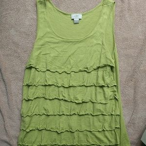 Green loft tank top size small